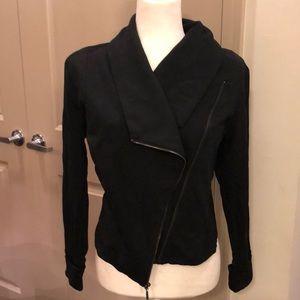 H by Halston black motorcycle jacket